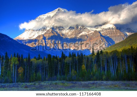 Mount Robson during Sunset, British Columbia, Canadian Rockies