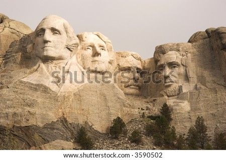 Mount Rushmore classic close-up