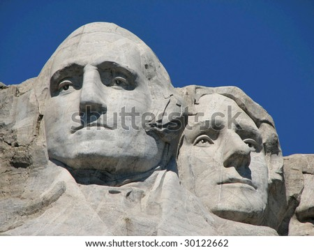 Mount Rushmore - George Washington and Thomas Jefferson