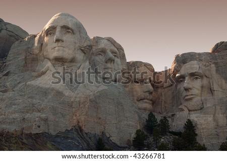 Mount Rushmore in the Black Hills of South Dakota.