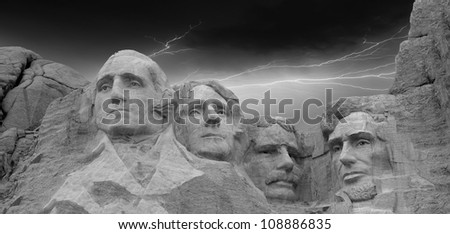 Mount Rushmore National Memorial in South Dakota, U.S.A.