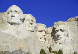 Mount Rushmore National Memorial, symbol of America located in the Black Hills, South Dakota, USA