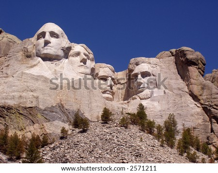 Mount Rushmore on a Cloudless Day