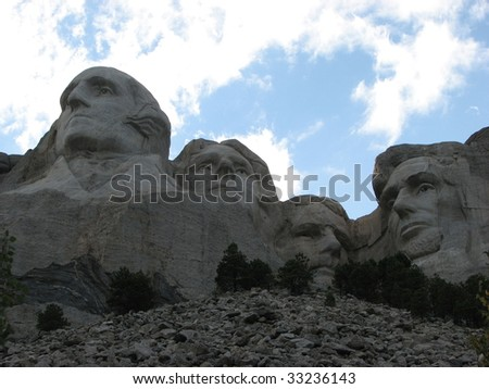 Mount Rushmore View from Below