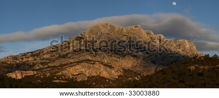Mount Sainte Victoire in Provence, France.