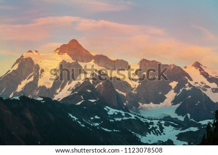 Mount Shuksan in Washington, USA