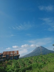 Mount Sinabung is a Pleistocene to Holocene stratovolcano of andesite and dacite in the Karo plateau of Karo Regency, North Sumatra, Indonesia, 40 kilometers from the Lake Toba supervolcano.