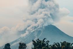 Mount Sinabung Volcano Eruption Berastagi Karo North Sumatra Indonesia Pyroclastic Flow