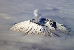 Mount St. Helens Blow-Off Flying Over