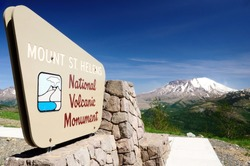 Mount St. Helens National Volcanic Monument viewpoint