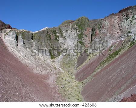 Mount Tarawera volcanic crater near Rotorua, North Island, New Zealand