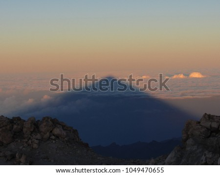 Mount Teide's Shadow During Sunrise