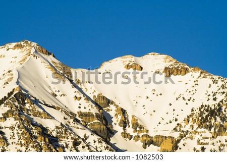 Mount; Timpanogos in Utah county Utah taken from the West in the Winter