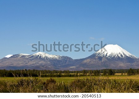 Mount Tongariro volcano in New Zealand