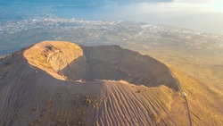 Mount Vesuvius from a height