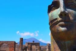 Mount Vesuvius from the Ruins of Pompeii - Pompei, Campania, Italy - June 2016