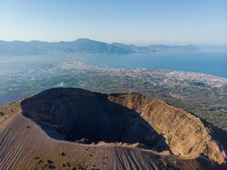 Mount volcano Vesuvius in Napoli