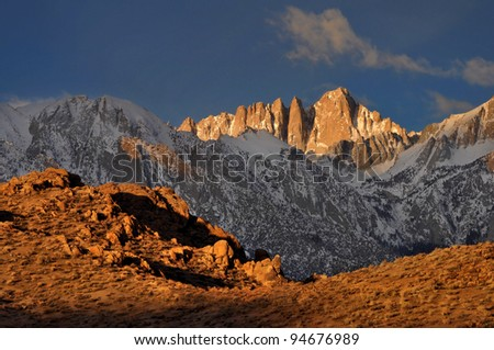 Mount Whitney and the Alabama Hills Eastern Sierra Nevada, California