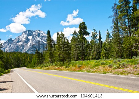 mountain and road