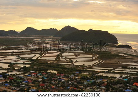 mountain and sea view at prajuab kirikun (Kao Sam Roi Yod  ) Thailand. - stock photo