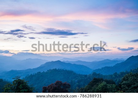 Mountain and vanilla sky. #786288931