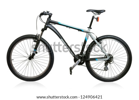 Mountain bicycle bike isolated on white background #124906421