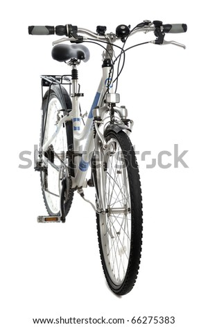 mountain bicycle isolated on white background