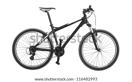 mountain bike on white background #116482993