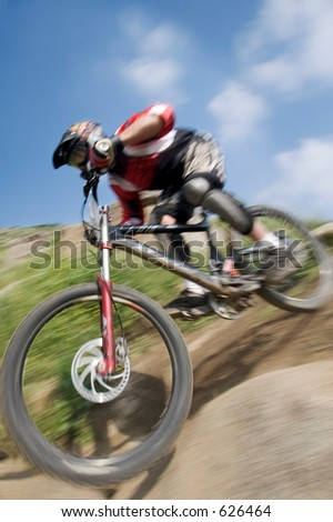 Mountain bike racing in Southern California.