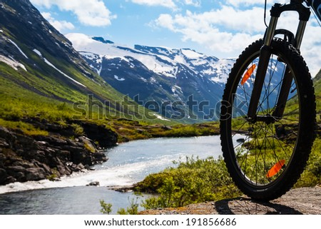 mountain bike rider view on...