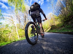 Mountain bike tour in the alps