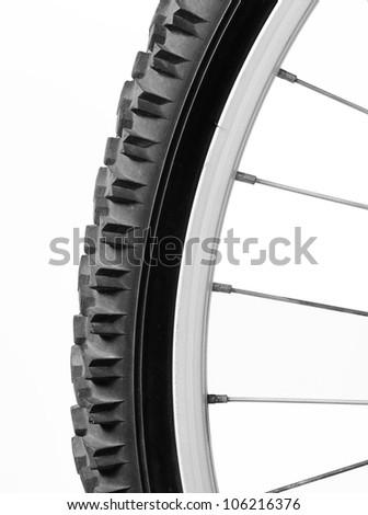 Mountain bike wheel - stock photo
