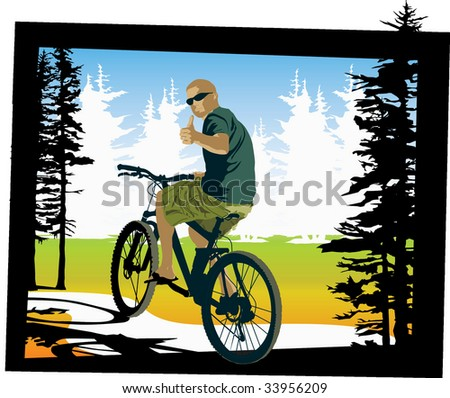 Mountain biker giving a thumbs up.