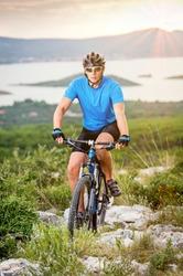 mountain biker riding on Croatia
