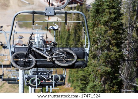 Mountain Bikes on Chairlift