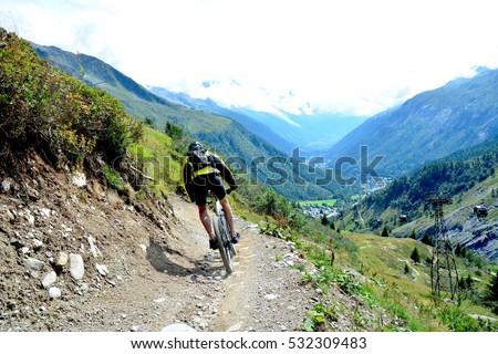 Mountain Biking Chamonix #532309483