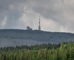 Mountain Brocken with Brocken Transmitter in Harz Germany