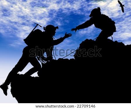 Mountain Climbing Foto stock ©
