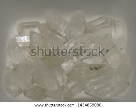 mountain crystals, clear crystals of quartz #1434859088