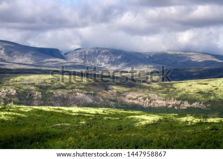 Mountain deserts and semi-deserts of Northern lands - alpine tundra belt (barrens, goltsy). Khibiny Mountains