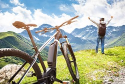 Mountain E Bike In Austria. Ebike Bicycle