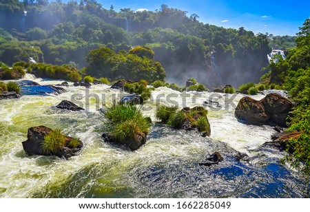 Mountain forest waterfall scene. Forest waterfall water. Mountain forest waterfall