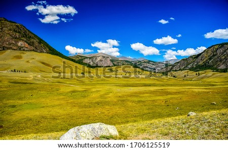 Photo of  Mountain green valley landscape. Green mountain valley view. Mountain valley landscape. Mountain landscape