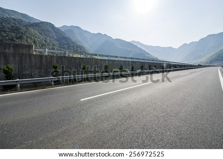 Mountain highway viaduct