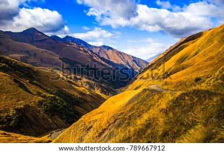 Mountain hills landscape #789667912