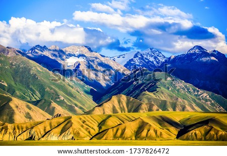 Mountain hills landscape. Hills in mountains