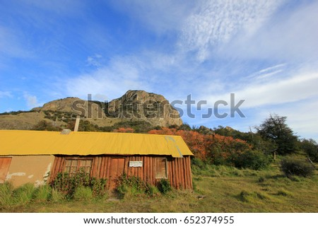 Mountain house in El Chalten, Patagonia, Argentina