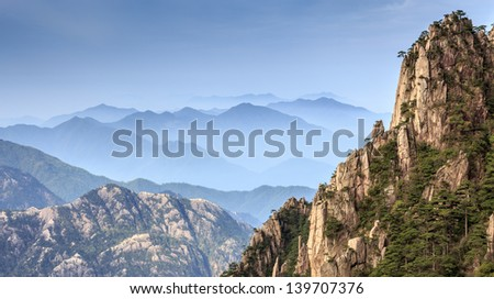 Mountain Huangshan in the morning, Anhui province,China