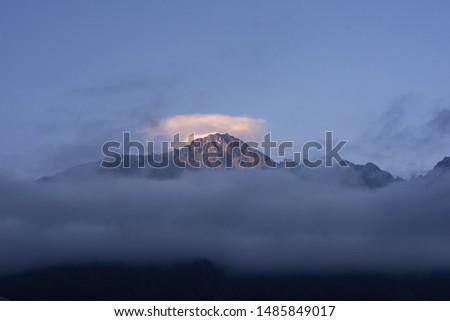 Mountain in Georgia during sunset. #1485849017