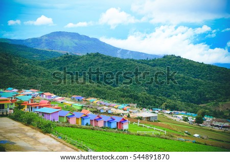 Mountain in thailand ,PhuThap withdraw #544891870